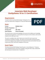 OutSystems 11 Delta Associate Web Developer Certification