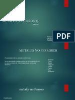 METALES NO FERROSOS TALLER IV