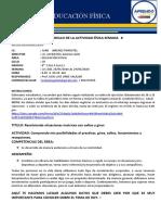 ACTIVIDAD FISICA SEMANA 8  (25-05-2020) CICLO VII