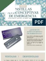 Pastillas anticonceptivas de emergencia
