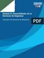 Generalidades de la Gerencia de Empresas
