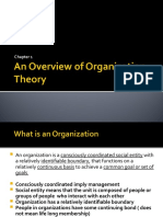 Overview of Org Theory  Design