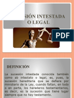 SUCESIÓN INTESTADA O LEGAL
