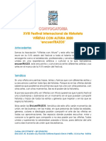Convocatoria 6.0 General Festival VIÑETAS CON ALTURA 2020