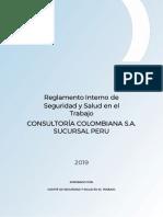 DOHSE07 Reglamento Interno de Seguridad y Salud en el Trabajo CONCOL Ver00