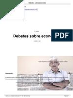 Debate sobre economia