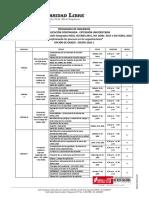 Cronograma Diplomado HSEQ 2020-1 ING ACT