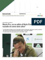 María Pry, en su adiós al Betis Féminas_ _Me he vaciado en estos siete años_