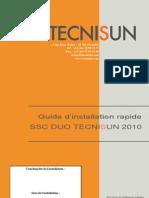 TECNISUN SSC DUO Guide d'Installation Rapide 21102010