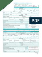 Formato de afiliacion y solicitud de credito y servicios