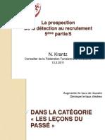 Prospection detection recrutement Athltisme 2011