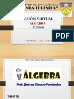 SESION VIRTUAL DE ÁLGEBRA 5° PRIMARIA - OCHO