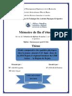 Etude comparative des qualités physiques chez le jeunes joueurs U15 ligue deux de la JSM Bejaia et régional honneur du CRB Aokas – la Région de Bejaia.pdf