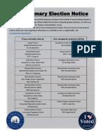 Georgetown County Precinct Changes for June 2020 Primaries