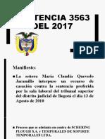 Sentencia 3563 del 2017