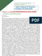 Option Terminale JM Keynes Sous Emploi Et Demande 2010 2011