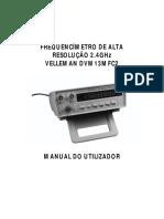 FREQUENCÍMETRO DE ALTA RESOLUÇÃO DVM13MFC2