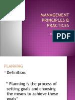 Management Principles & Practices