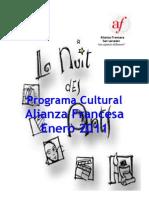 Programa Cultural Enero 2011 Alianza Francesa