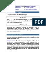 Funções quadráticas_Parábolas