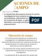 CLASE 6 PLANEACION DE OPERACIONES DE CAMPO