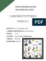 Informe 01 Laboratorio Fisica I