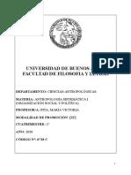 Antropologia Sistemática I (Pita) Programa2020-1c