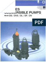 Ebara Submersible D-Series - DS-DVS-DL-DF-DV