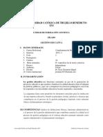 SÍLABO DE GESTIÓN UNIVERSIDAD CATÓLICA DE TRUJILLO BENEDICTO XVI