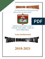 PROYECTO EDUCATIVO INSTITUCIONAL  2020