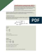 Fórmulas para amplificadores operacionais