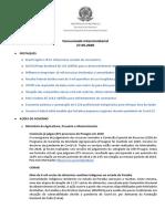 Comunicado Interministerial - 27 05 2020