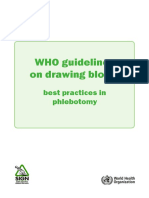 WHO Guidelines on Drawing Blood Best Practices in Phlebotomy Eng