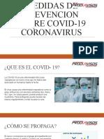 MEDIDAS DE PREVENCION DE CORONAVIRUS