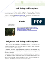Subjective Well Being Happiness
