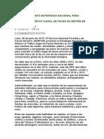 SERFOR PRESENTÓ ESTRATEGIA NACIONAL PARA REDUCIR EL TRÁFICO ILEGAL DE FAUNA SILVESTRE EN EL PERÚ AL 2021.docx