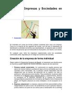 5._ Tipos de Empresas y Sociedades en Colombia