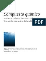 Compuesto químico - Wikipedia, la enciclopedia libre