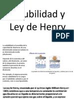 Ley de Henry y Ley de Fick