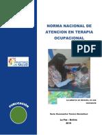 NORMA NACIONAL DE ATENCION EN TERAPIA OCUPACIONAL092019