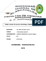 LISTA DE INSECTOS MONOFAGOS, POLIFAGOS Y OLIGOFAGOS
