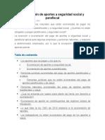 Exoneración de aportes a seguridad social y parafiscal (1)