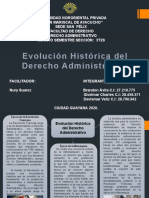 Evolucion Historica del Derecho Administrativo