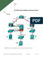 9.3.1.2 Lab - Configure ASA 5506-X Basic Settings and Firewall Using CLI.docx