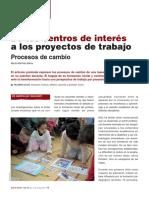 De los centros de interés a los proyectos de trabajo. Procesos de cambio - Marta Martínez Barco