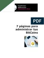 7 páginas para administrar tus BitCoins