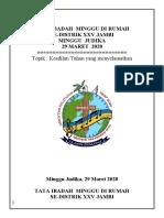 ACARA MINGGU  29  MARET  2020  SA-DISTRIK (Rev-1)