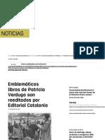 Emblemáticos libros de Patricia Verdugo son reeditados por Editorial Catalonia _ Museo de la Memoria y los Derechos Humanos