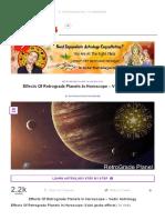 Effects Of Retrograde Planets In Horoscope _ AstroSanhita