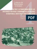 2018. Eugenia Rdguez Sáenz. La Guerra Fría, mujeres guatemala, costa rica y chile, 1945 1975